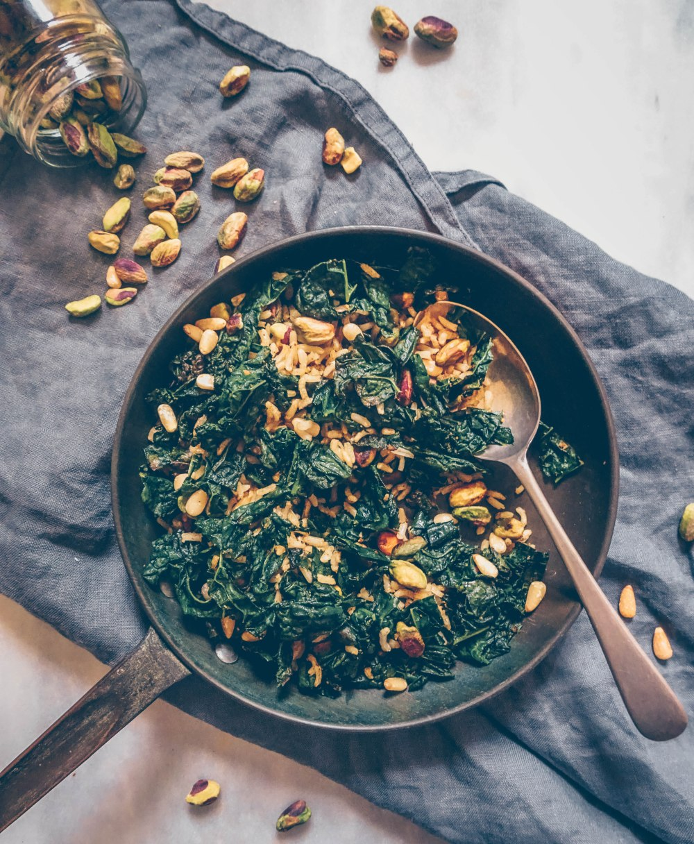 Spiced kale and pistachio salad - edited