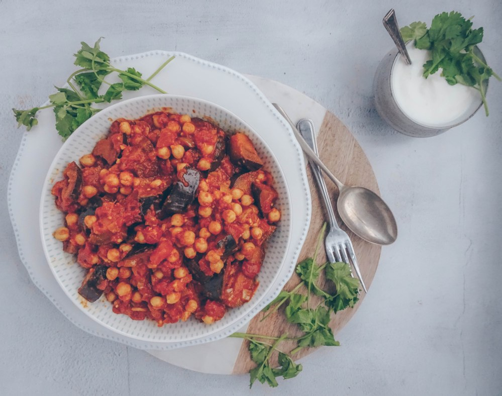 Aubergine and chickpea curry-3