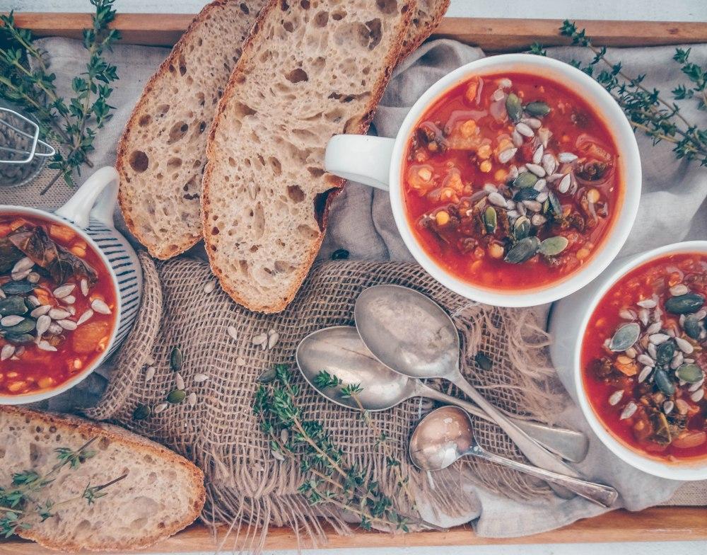 Red lentil and kale soup-5