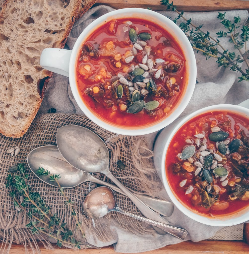 Red lentil and kale soup-8