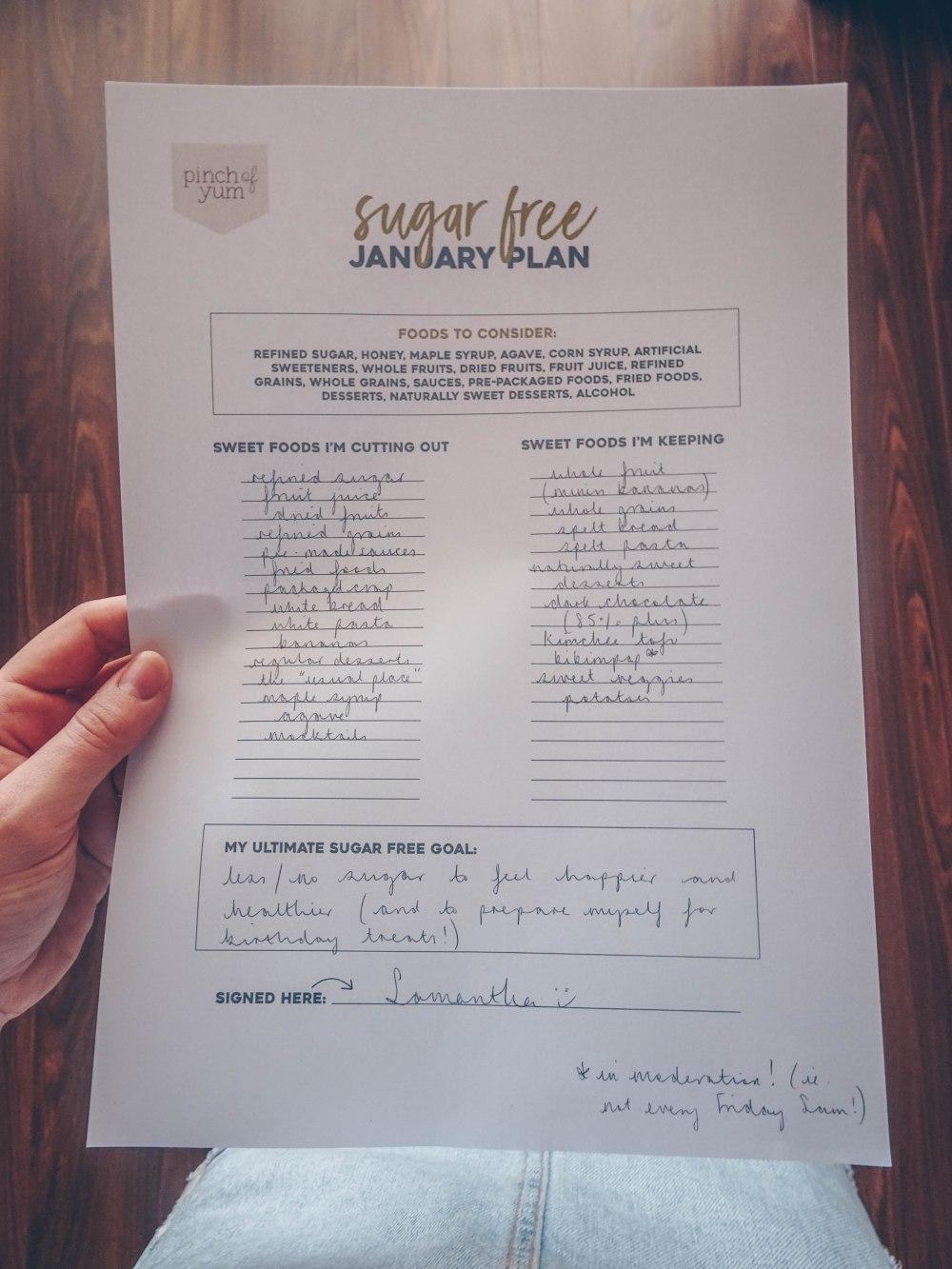My Sugar Free January Plan