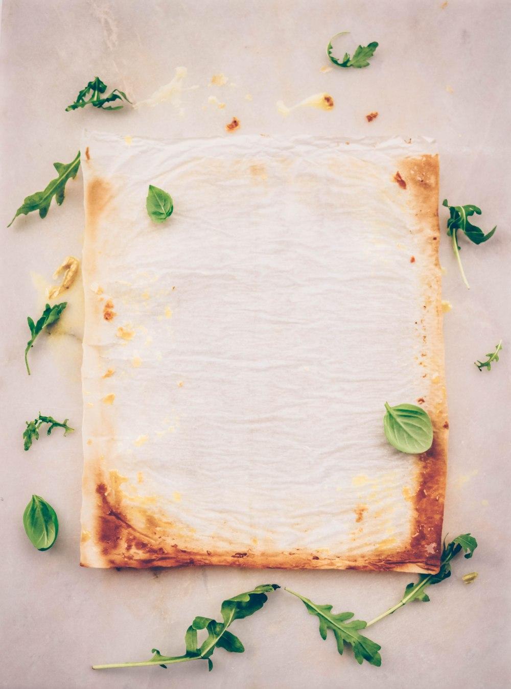Pesto, greens and mozzarella tart-12